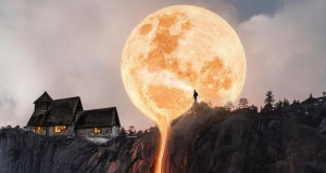 Breathtaking Moon Scenery #Moon #Breathtaking #waterfall #amazingmoon #peace #moonlight #smartphonethemes #smartphone #gorgeous #iphone #samsung