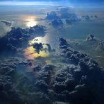 Absolutely stunning image of clouds from above. #clouds #above #stunning #aesthetic #rainbow #iPhone