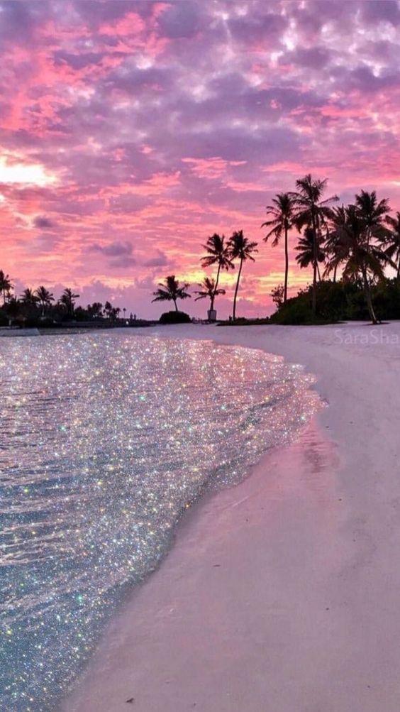 beach, gorgeous, amazingview, sunset, pink, Dreamy, Summer smartphonewallpaper, calm, sea, Iphone, Samsung, HDwallpaper