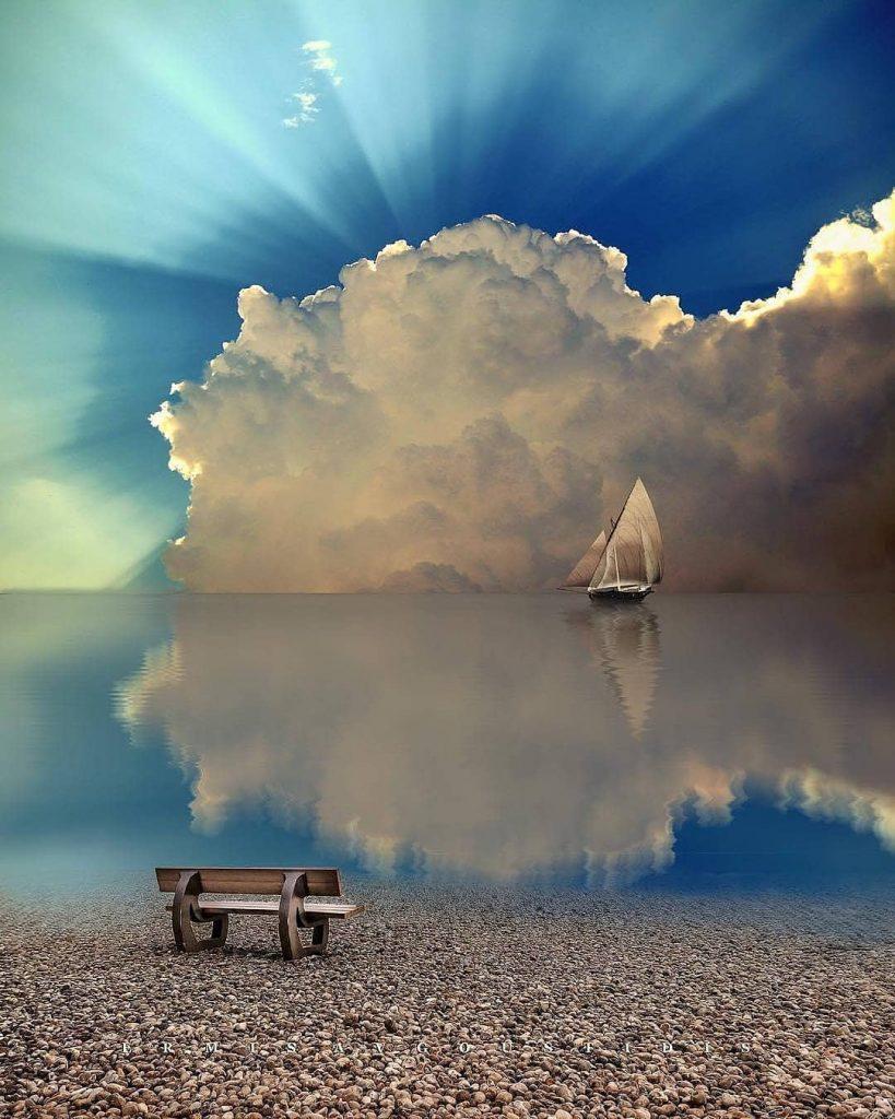 Gorgeous Sailboat Picture sunset, sailboat, boat, ocean, sea, sky, twilight, horizon