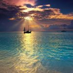 beach, gorgeous, amazingview, sunset, Dreamy, Summer smartphonewallpaper, calm, sea, boat Iphone, Samsung, HDwallpaper