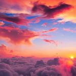 Gorgeous Orange Sunset Colorful Clouds In Evening Sky! #sky #sunset #clouds #colorful #evening #gorgeous