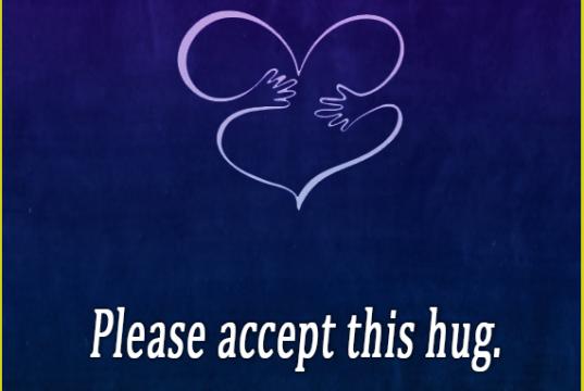 hug, quote, positive saying, encouragement