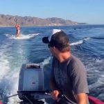 waterskiing, wakeboarding, water surfing, sport, healthy, benefit, dolphin, sea, boat, unbelievable,