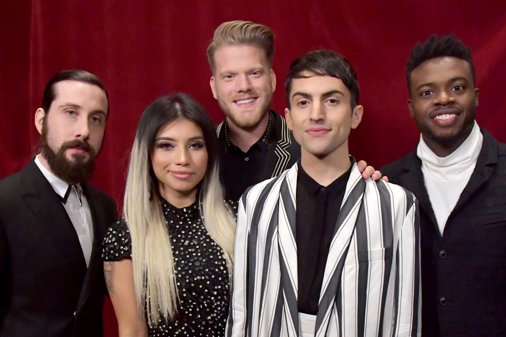 Pentatonix, cover, Beegees, voice, beatbox, amazing, grammy, memory,