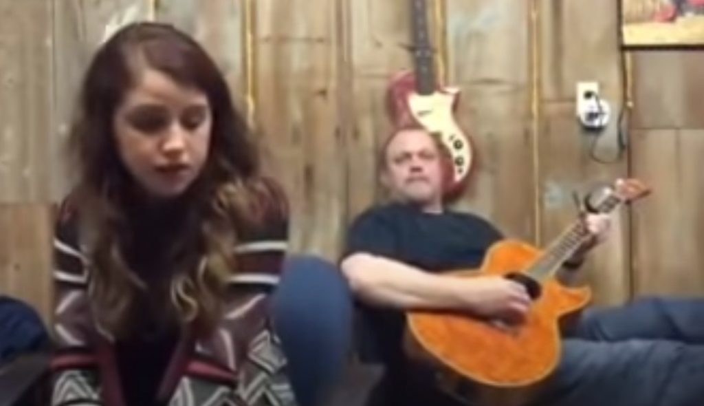 cover, Jolene, song, guitar, father, daughter, Alexandra kay, talent,