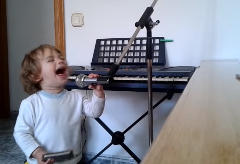 Kid, Talent, Mic, Harmonica, Adorable, Cute,